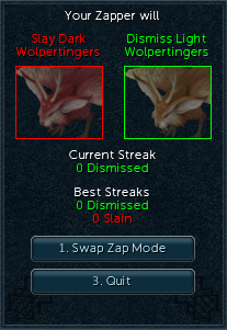 Wolpertinger Zapping interface.png