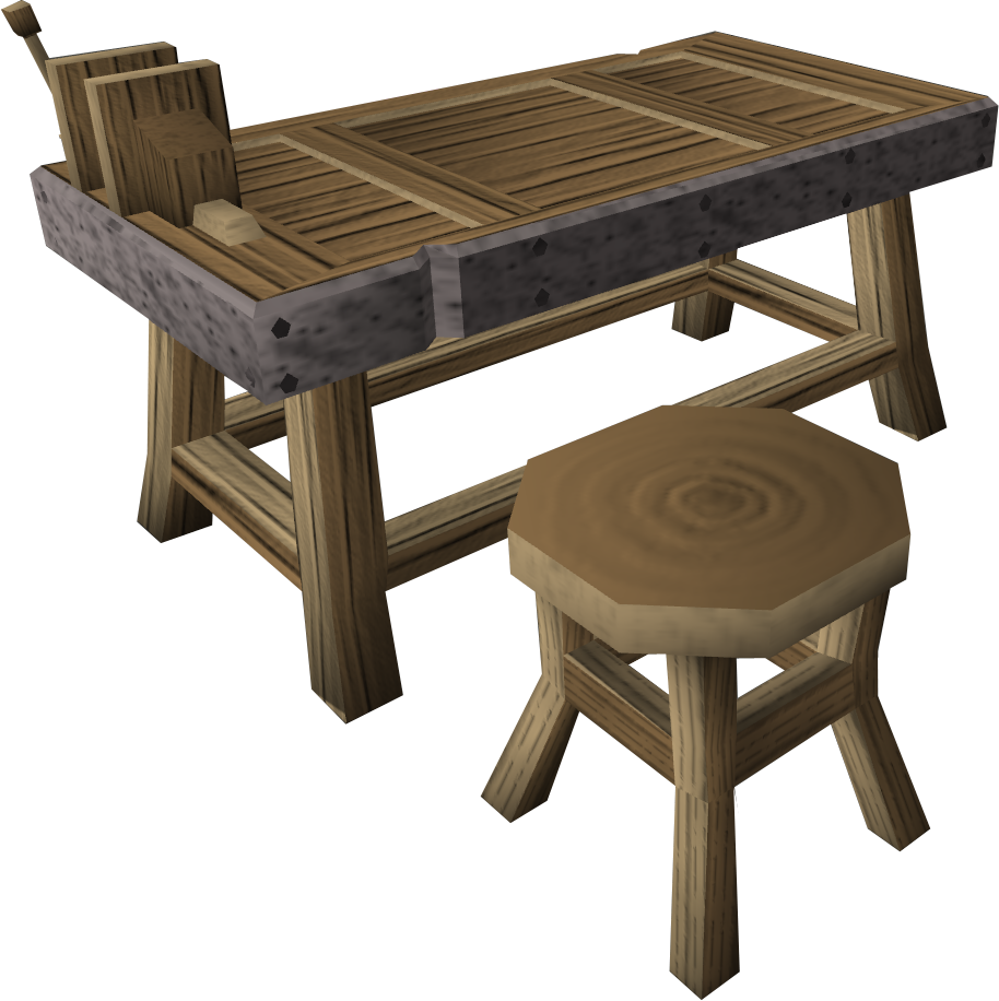 Bench with vice.png: RS3 Inventory image of Bench with vice