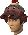 A player's chathead with the salty claws hat.