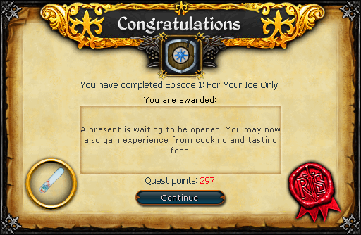 For Your Ice Only reward.png