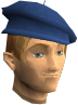 The chathead of a player wearing a blue beret.