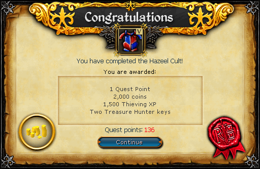 Hazeel Cult reward.png