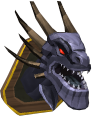 King Black Dragon head (mounted) chathead.png