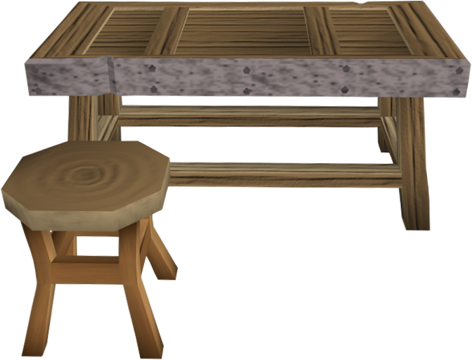 Steel framed bench.png: RS3 Inventory image of Steel framed bench