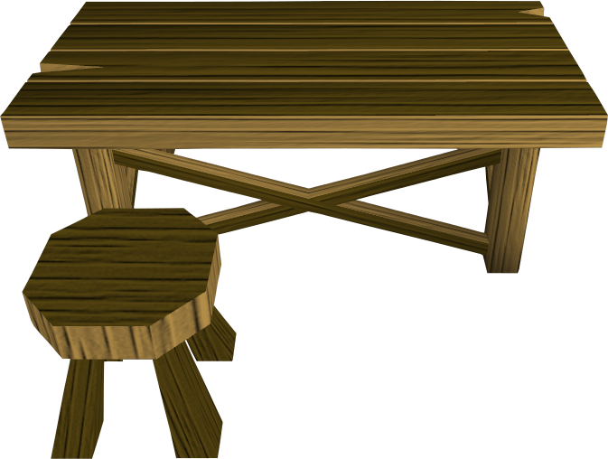 Wooden workbench.png: RS3 Inventory image of Wooden workbench