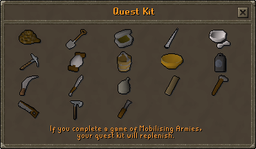 Inside a Quest kit inventory
