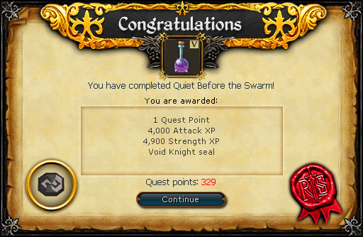 Quiet before the Swarm reward.png