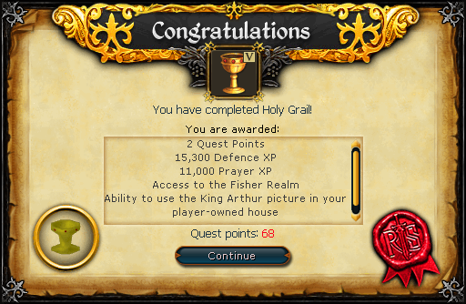 Quick guide for Holy Grail - The RuneScape Wiki