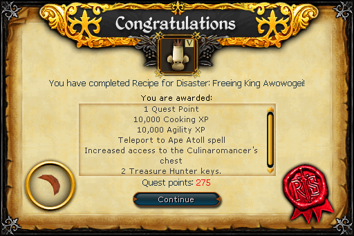 Recipe for Disaster (Freeing King Awowogei) reward.png