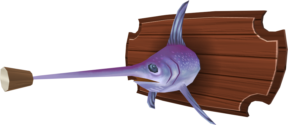Mounted swordfish (Aquarium).png: RS3 Inventory image of Mounted swordfish (Aquarium)