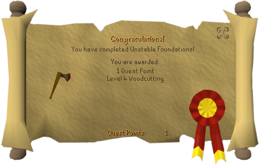 Unstable Foundations (woodcutting) reward.png