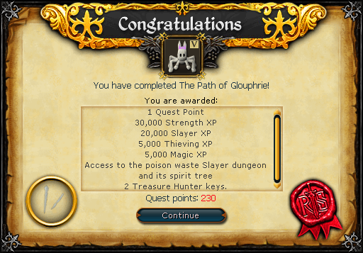 The Path of Glouphrie reward.png