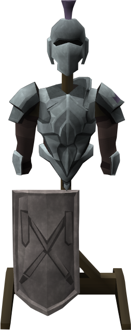 Intricate decorative armour stand.png: RS3 Inventory image of Intricate decorative armour stand