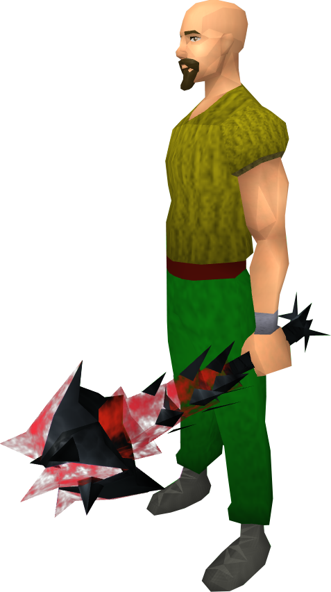 Off-hand drygore mace (blood) - The RuneScape Wiki