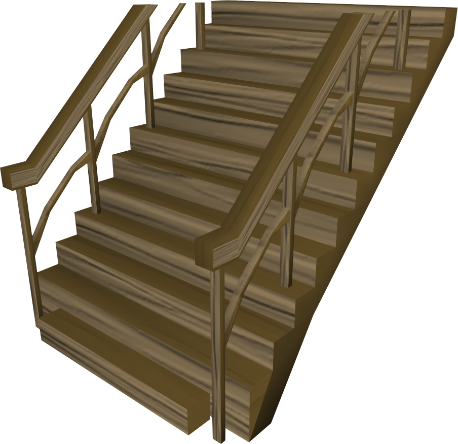 Teak staircase.png: RS3 Inventory image of Teak staircase