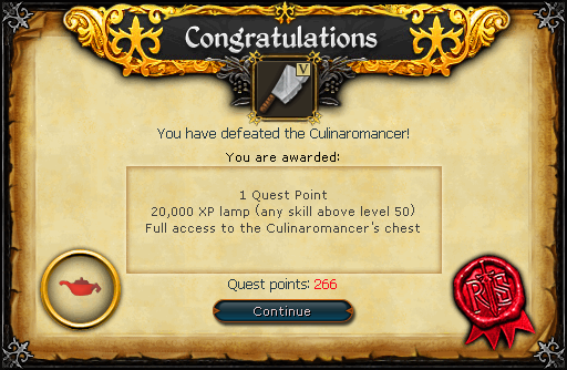 Recipe for Disaster (Defeating the Culinaromancer) reward.png