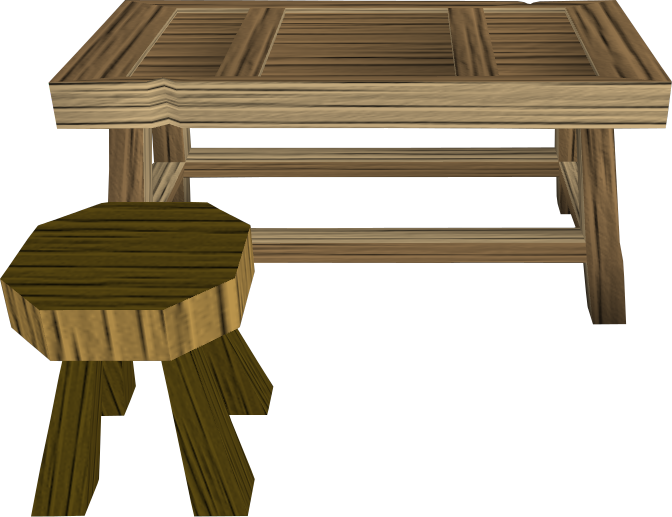 Oak workbench.png: RS3 Inventory image of Oak workbench