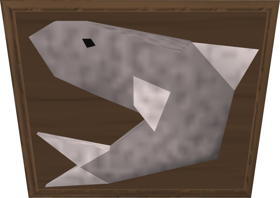 Mounted shark.png: RS3 Inventory image of Mounted shark