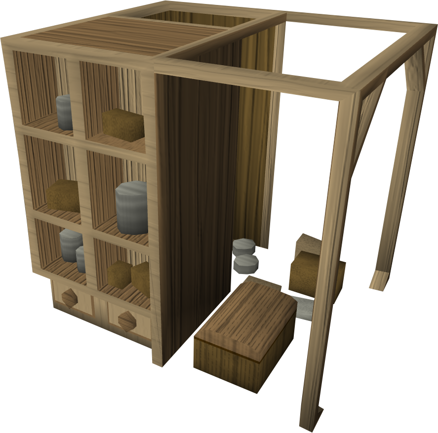 Oak larder.png: RS3 Inventory image of Oak larder