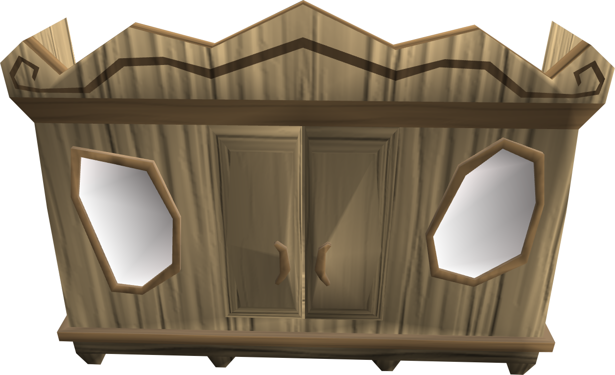 Carved oak magic wardrobe.png: RS3 Inventory image of Carved oak magic wardrobe