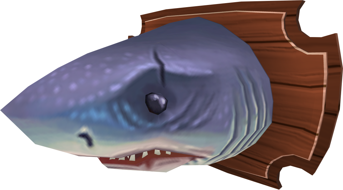 Mounted great white shark.png: RS3 Inventory image of Mounted great white shark