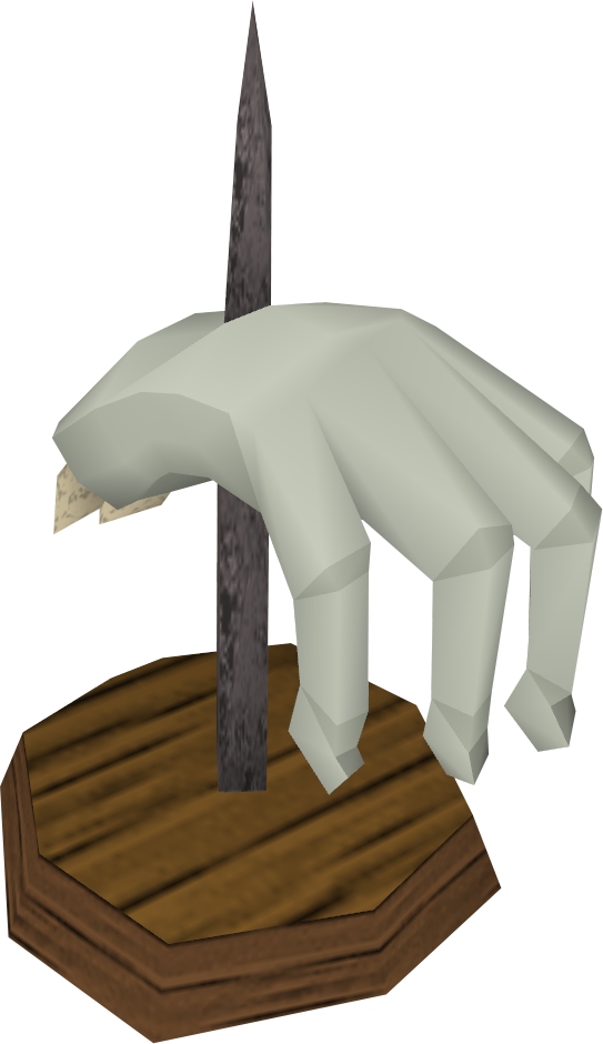 Crawling hand (mounted).png: RS3 Inventory image of Crawling hand (mounted)