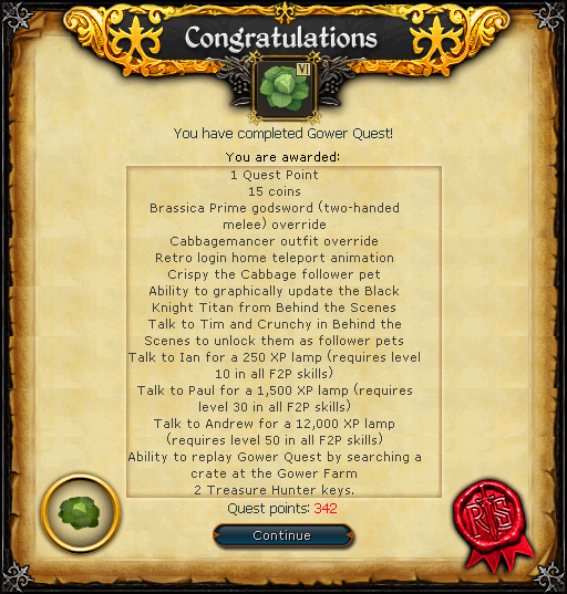 Gower Quest reward.png
