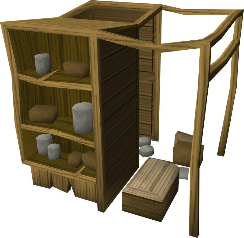 Wooden larder.png: RS3 Inventory image of Wooden larder