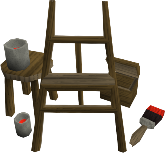 Shield easel.png: RS3 Inventory image of Shield easel