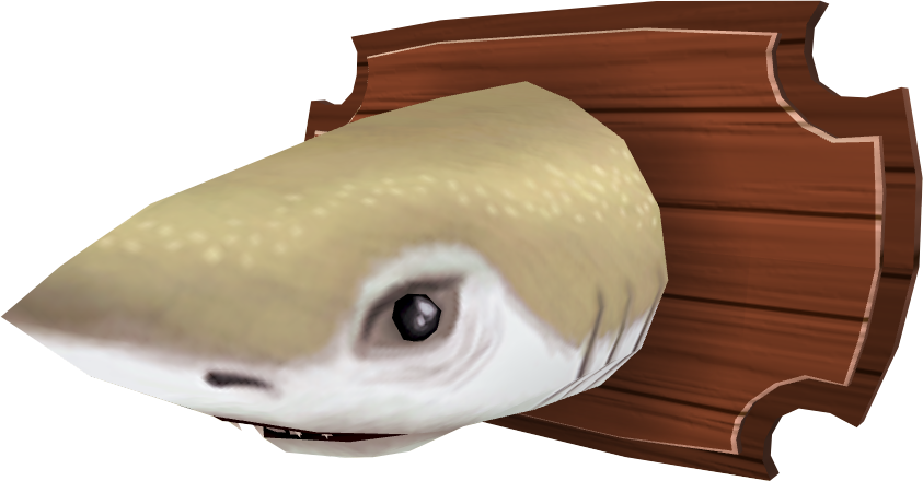 Mounted shark (Aquarium).png: RS3 Inventory image of Mounted shark (Aquarium)
