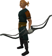 Corpsethorn longbow equipped.png: Corpsethorn longbow equipped by a player