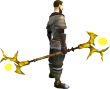 Golden Ahrim's staff equipped.png: Golden Ahrim's staff equipped by a player