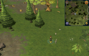 Scan clue Piscatoris Hunter area slightly north-east of the central Hunter training icon.png