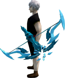 Seren godbow (ice) equipped.png: Seren godbow (ice) equipped by a player