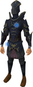 Augmented anima core armour of Zaros equipped.png: Augmented anima core legs of Zaros equipped by a player