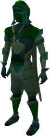 Lunar armour (green) equipped (male).png: Lunar helm (green) equipped by a player