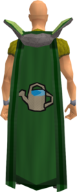 Retro farming cape equipped.png: Farming cape equipped by a player
