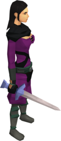 Training sword equipped.png: Training sword equipped by a player