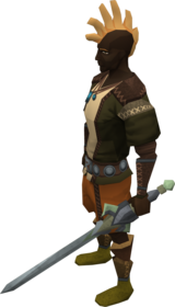 Off-hand gorgonite longsword equipped.png: Off-hand gorgonite longsword equipped by a player
