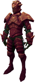 Orikalkum armour + 1 equipped (male).png: Orikalkum platebody + 1 equipped by a player