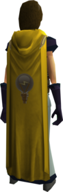 Hooded invention cape equipped.png: Hooded Invention cape equipped by a player