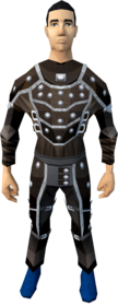 Studded leather armour (t) equipped (male).png: Studded body (t) equipped by a player