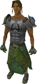 Penance armour equipped.png: Penance gloves equipped by a player