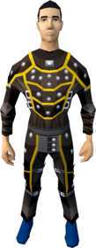 Studded leather armour (g) equipped (male).png: Studded body (g) equipped by a player
