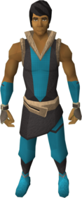 Mercenary's gloves equipped.png: Mercenary's gloves equipped by a player
