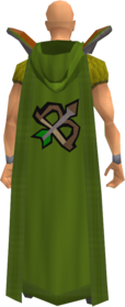 Retro hooded ranged cape equipped.png: Hooded ranged cape equipped by a player