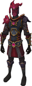 Refined anima core of Zamorak armour equipped.png: Refined anima core legs of Zamorak equipped by a player