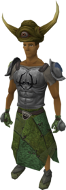 Penance armour (runner hat) equipped.png: Runner hat equipped by a player