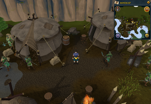 Scan clue Tirannwn centre of Elf Camp.png