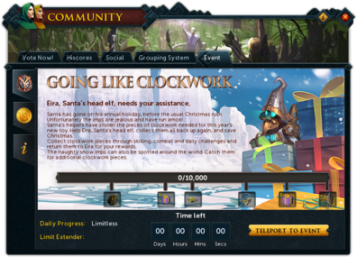 Community (Going Like Clockwork) interface summary.png